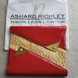 UNIQUE☆UNIQUE☆LEATHER ASHARD RICHLEY CLUTCH BAG!